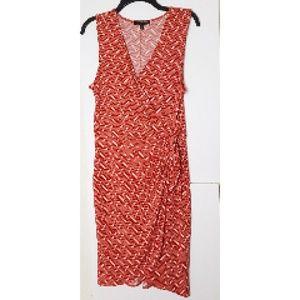 Banana Republic Sleeveless Faux Wrap Dress Sz M